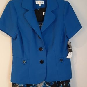 Studio One Blue Floral Dress with Jacket 12